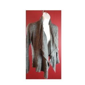 Abercrombie fitch Gray Open Drape Cardigan Size M/